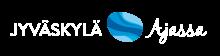 Ajassa-verkkolehden logo valkoisella tekstillä
