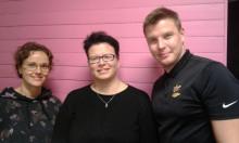 Jyväskylän fiksun liikkumisen testiryhmä 2018 Lotta, Eija ja Caius