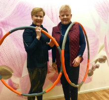 Fysioterapeutti  Adele Salonen ja Professori Hannele Yki-Järvinen