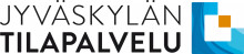 Jyväskylän Tilapalvelun logossa on teksti Jyväskylän Tilapalvelu ja logo