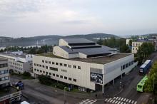 Alvar Aallon Teatteritalo Jyväskylässä ulkoapäin