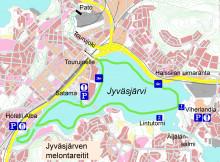 Jyväsjärven melontareitti karttakuva