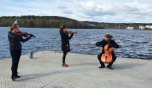 Jyväskylä Sinfonia kuvaamassa Suvivirsi-videota