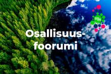 Keskisuomalainen maisema osallisuusfoorumi tekstillä.