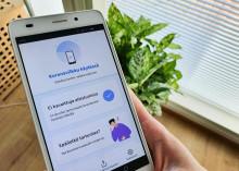 Koronavilkku-sovellus älypuhelimen ruudulla