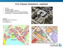 KOy Palokan liikekeskus, ilmakuva kohteesta ja kartta