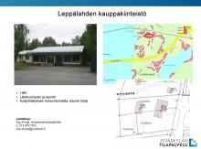 Leppälahden kauppakiinteistö, kuva kiinteistöstä ja kartta