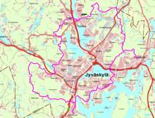 Jyväskylän maastopyörä- ja retkeilyreitin suunnitelmakuva