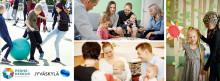 Jyväskylän perhekeskusverkostot, kuvakollaasi lapsista, nuorista ja lapsiperheistä.