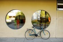 polkupyörä, ikkunoita
