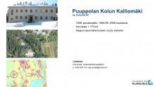 Puuppolan Kolun kalliomäki, kuvia kiinteistöstä ja kartta