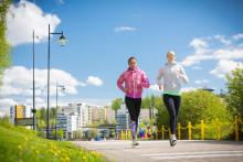 Juoksijat Jyväskylän Satamassa