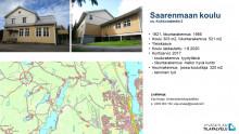 Saarenmaan koulu, kuva talosta ja kartta