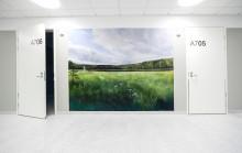 Ympäristöarvot näkyvät myös Johanna Mäkitalon teoksissa Sairaala Novan vuodeosastolla kauniina maisemakuvina.
