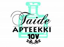 Taideapteekin juhlavuoden logo