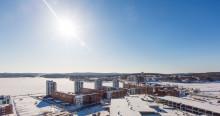 Talvinen näkymä Jyväsjärven suuntaan
