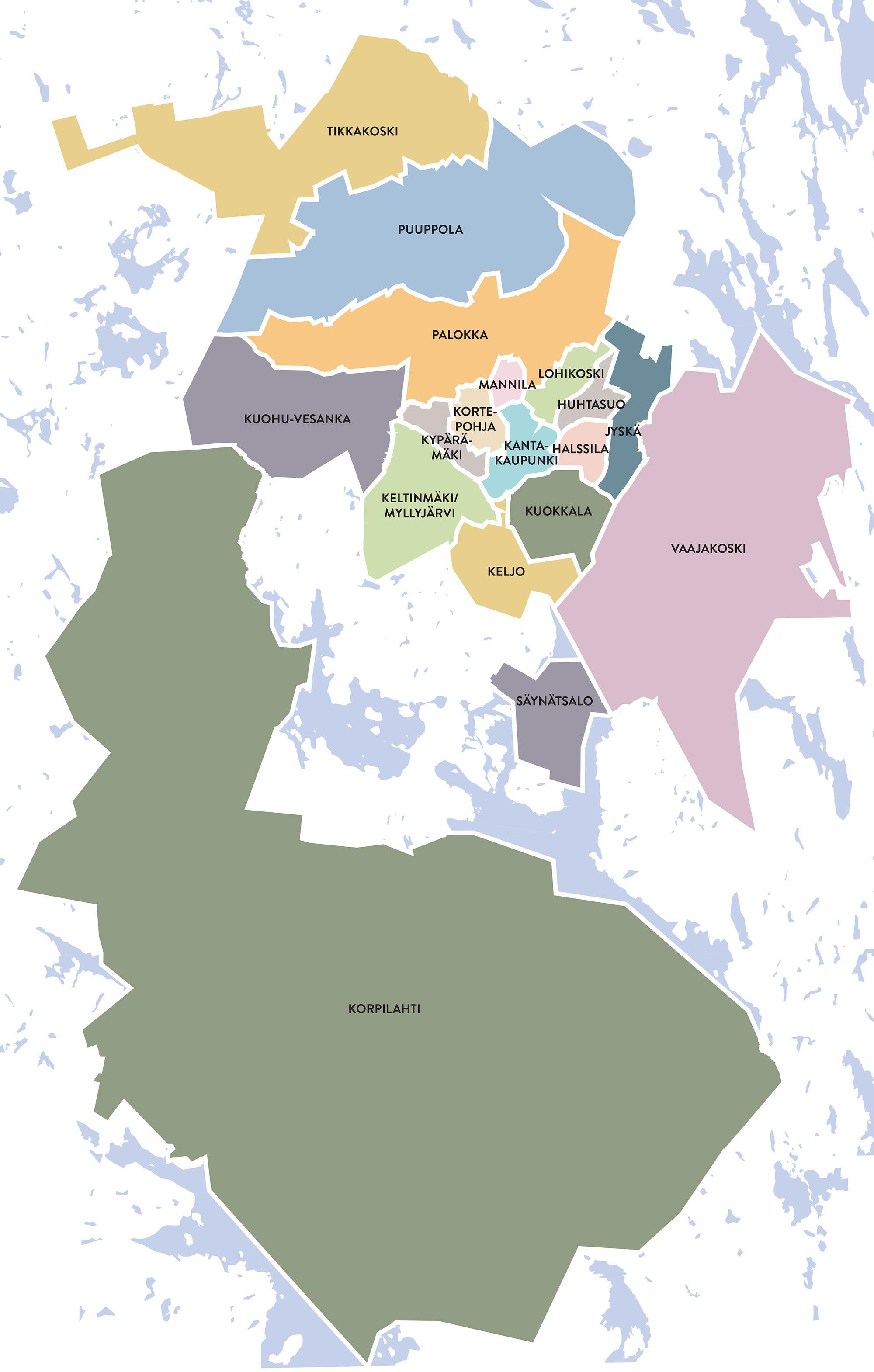 Jyväskylän asuinalueet