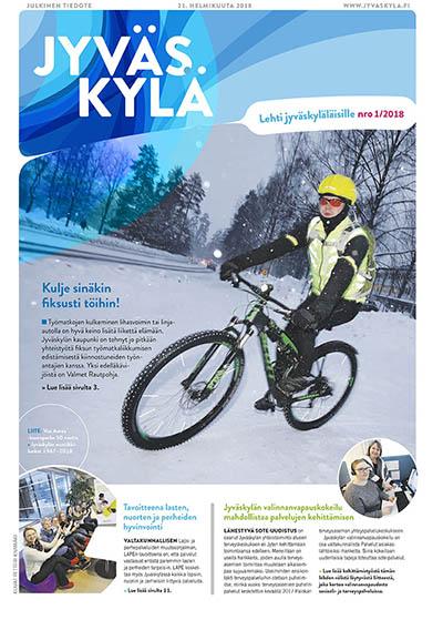 Jyväskylä-lehden kansi uudistuksen jälkeen